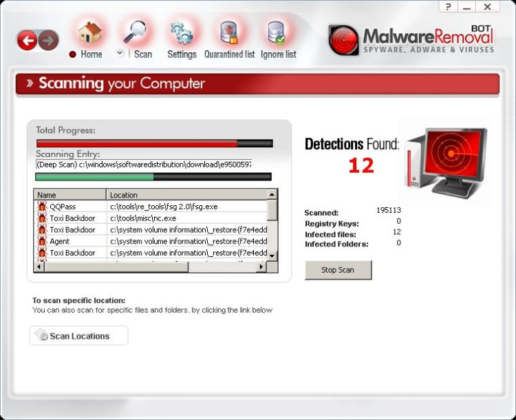 MalwareRemovalBots scanning