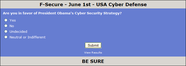 June 2009 Poll