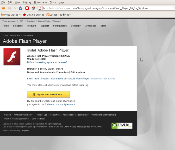 Fake Adobe FlashPlayer