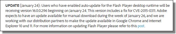 Adobe Bulletin CVE-2015-0311