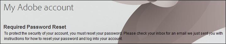 Required Password Reset
