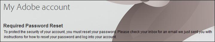 Required Password Reset