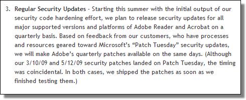 Adobe Regular Security Updates