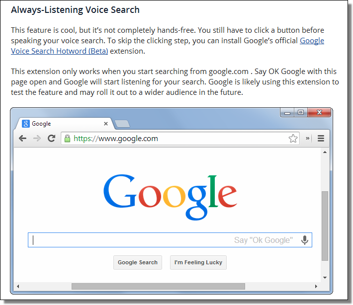 Always-Listening Voice Search