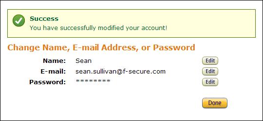 Amazon Password