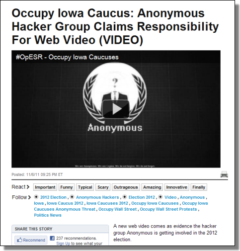 Anonymous November Ops