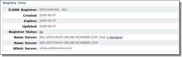 Antivirus Online Scanner, ESTDomains