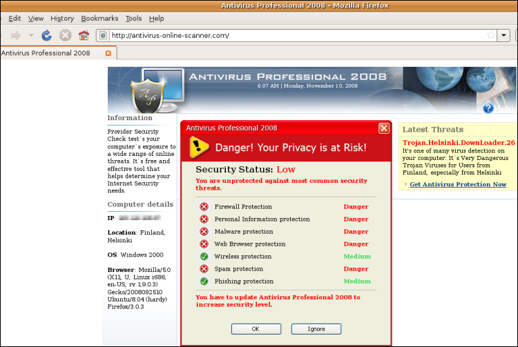Antivirus Professional 2008 Helsinki