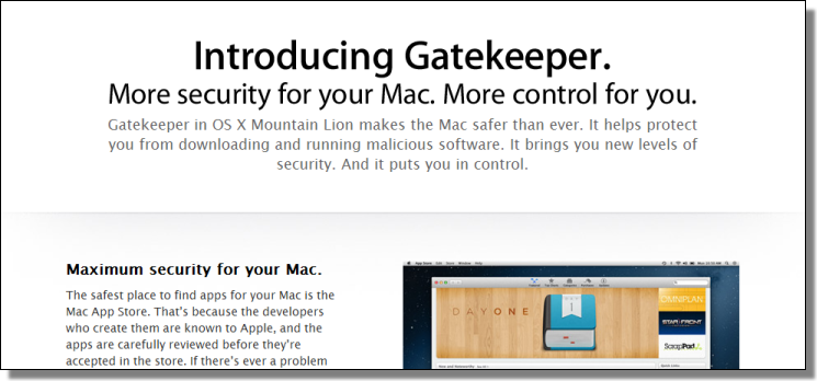 Apple Gatekeeper, More Control For You