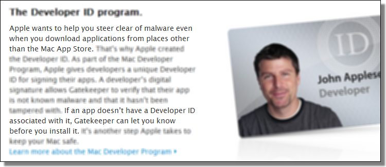Apple Gatekeeper, The Developer ID program