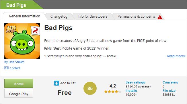 Bad Bad Piggies