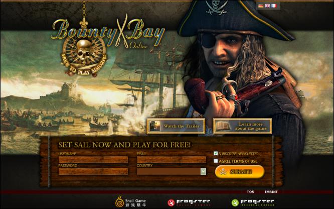 Bounty Bay Online, http://www.frogster.de