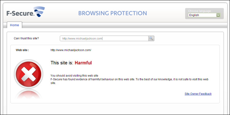 Browsing Protection, michaeljackson.com