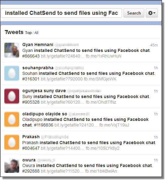 ChatSend Spam, Twitter