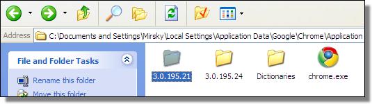Chrome3.0.195.21, Folder