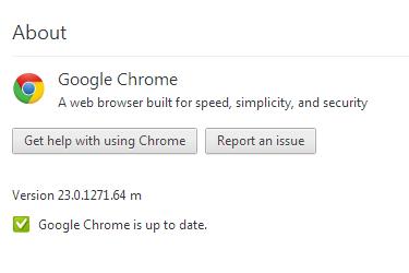 Chrome 23.0.1271.64