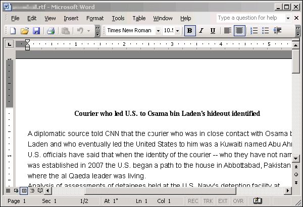 Courier who led U.S. to Osama bin Laden's hideout identified
