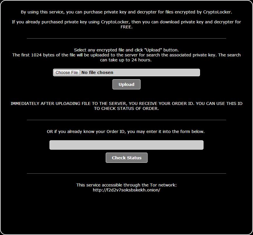 CryptoLocker Decryption Service
