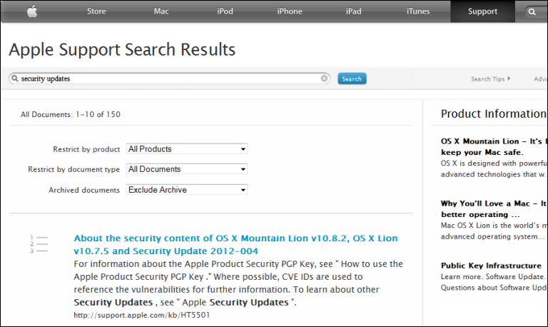 apple.com/support/ Apple Support Search Results