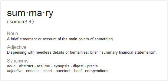 google, summary definition