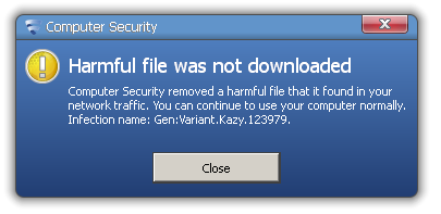 F-Secure antivirus block