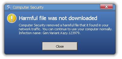 F-Secure antivirus block