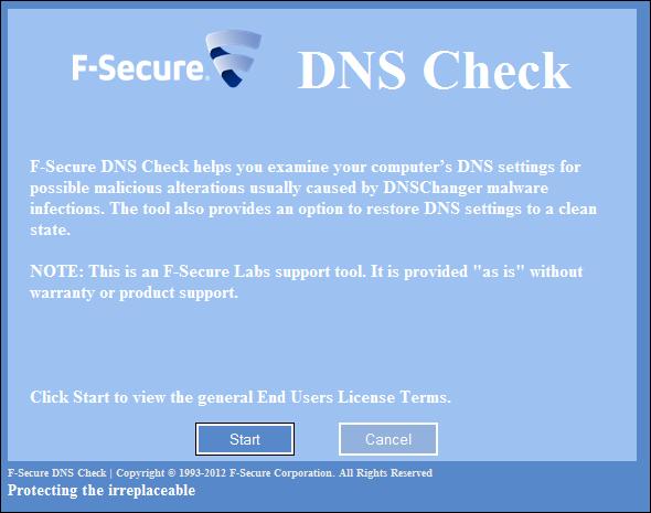 F-Secure DNS Check
