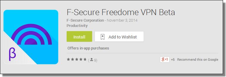 F-Secure Freedome VPN Beta