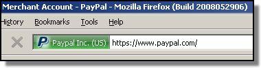 Firefox 3, PayPal EV SSL