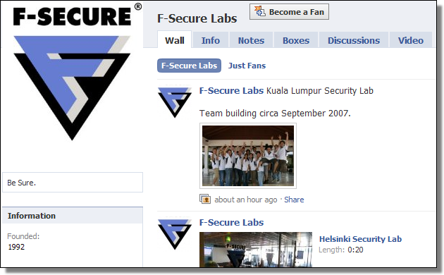 F-Secure Labs Page