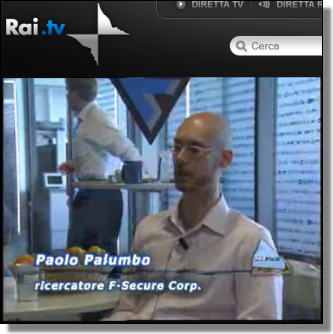 FSecure's Paolo Palumbo on Rai.tv