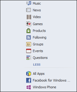 Facebook Settings, No Clear Searches
