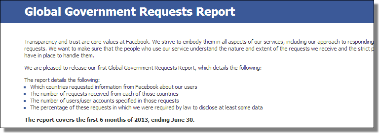 Global Government Requests Report