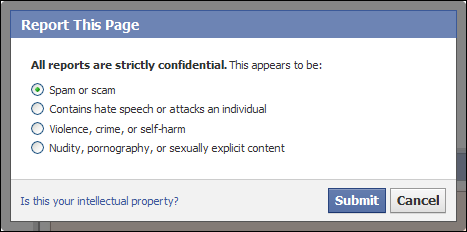 Facebook_Report_Page_Spam