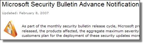 Feb 8th Advance Notification