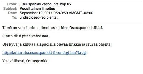 Osuuspankki phishing