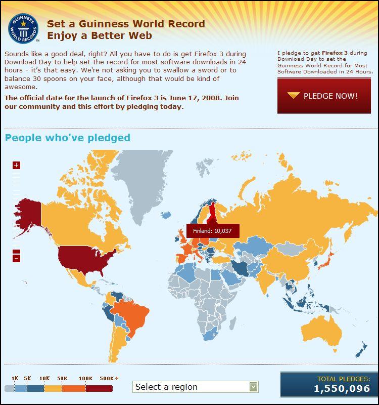 Firefox 3, Guinness World Record