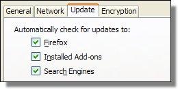 Firefox Update Options