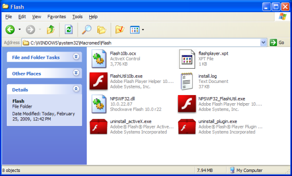 C:\WINDOWS\system32\Macromed