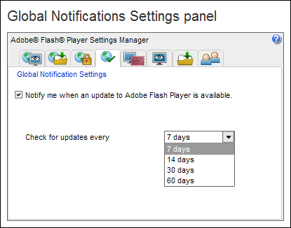 Flash Global Settings - Notifications