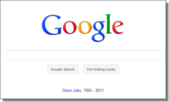 Google's Steve Jobs tribute
