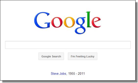 Google's Steve Jobs tribute