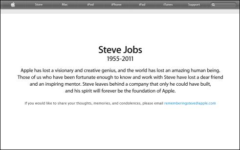 Apple remembers Steve Jobs