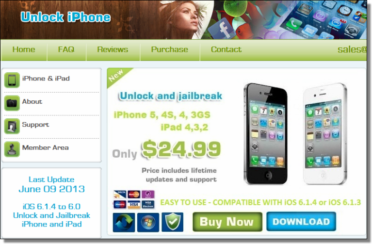 Unlock iPhone spam