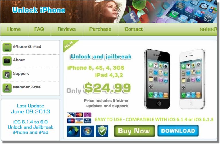 Unlock iPhone spam
