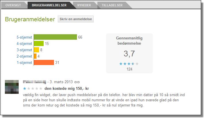 Google Play, User Reviews, Danish