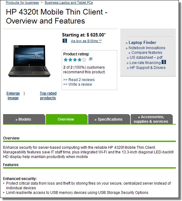 HP 4320t Mobile Thin Client, http://h10010.www1.hp.com/wwpc/us/en/sm/WF05a/321957-321957-64295-3852246-3955551-4174493.html