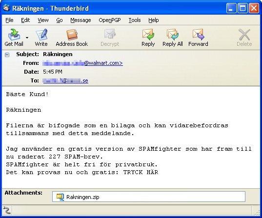 Haxdoor.KI E-Mail Message