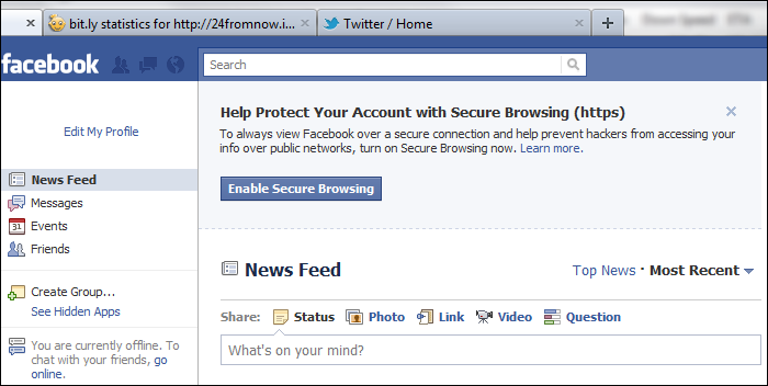 Help Protect Your Account with Secure Browsing (https)
