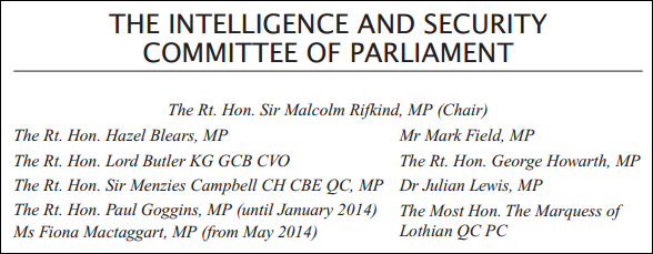 The Intelligence and Security Committee of Parliament